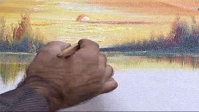 نقاشی غروب خورشید
