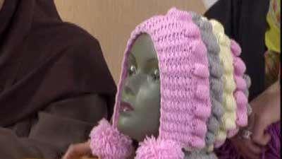 یک مدل شال و کلاه دخترانه(2)