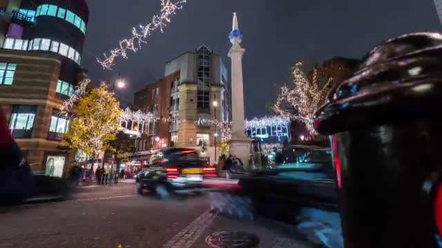 تایم لپس چراغانی شهر لندن در ایام کریسمس