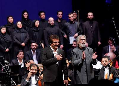 ارکستر ملی ایران با رهبری «فریدون شهبازیان» و خوانندگی «علیرضا افتخاری»