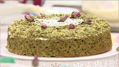 کیک اسفناج با کرم پنیری