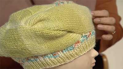 بافت یک مدل کلاه