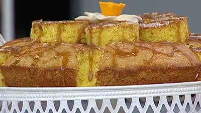 کیک قیسی و گردو