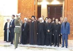 ادای احترام رئیس جمهوری به آیتالله هاشمی رفسنجانی