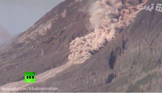 فوران آتشفشان در اندونزی
