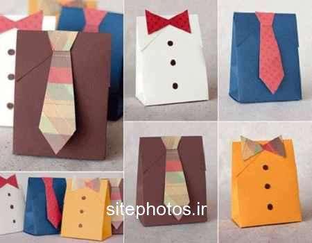 بسته بندی کادو به شکل پیراهن مردانه