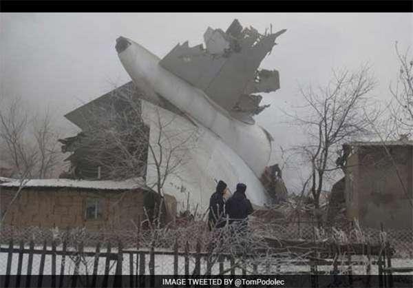 سقوط هواپیمای باری در بیشکک