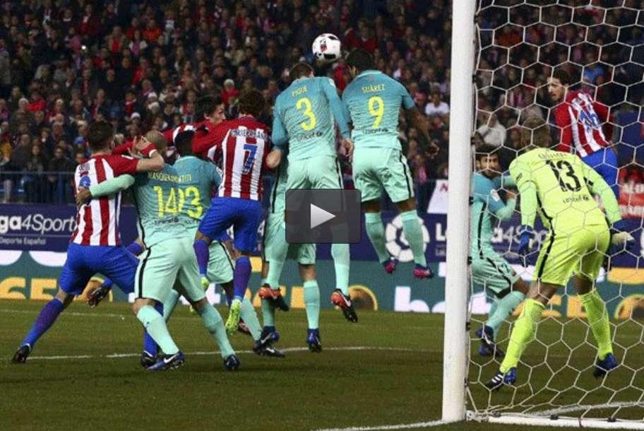 خلاصه دیدار تیمهای فوتبال اتلتیکومادرید - بارسلونا