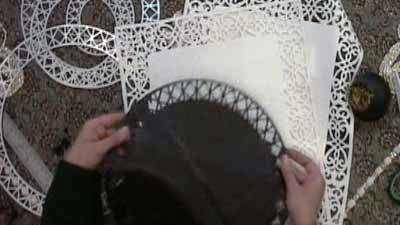رومیزی هویه کاری (به زبان آذری)