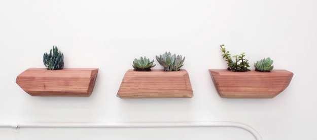 ساخت گلدان با چوب