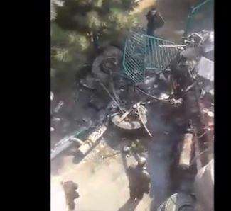 واژگونی یک کامیون