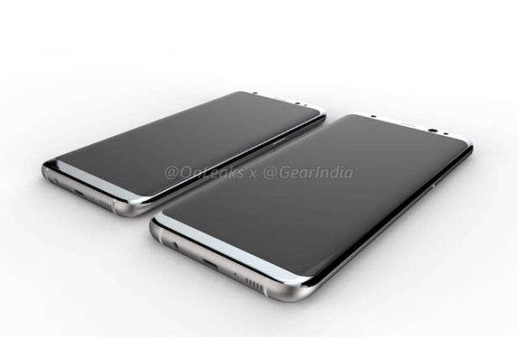 واضح ترین تصاویر رندر گلکسی S8 و گلکسی S8 پلاس