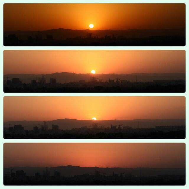 متوجه طلوع خورشید امروز شُدید؟