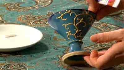 نقاشی روی ظروف سفال