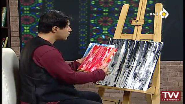 نقاشی با رنگ اکریلیک