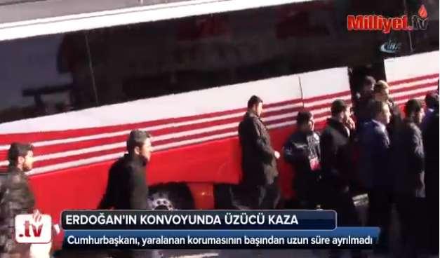 اتوبوس اردوغان محافظ او را زیر گرفت!