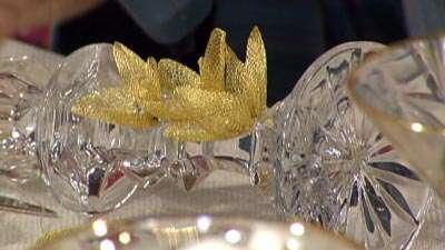 تزئین هفت سین با روبان تیتانیوم