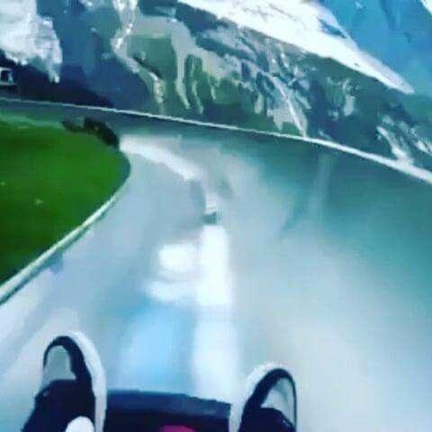 سرسره فوق العاده زیبا در دل طبیعت سوئیس