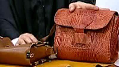 کیف کچ چرمی