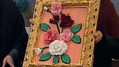 تابلوی گل رز با نمد (به زبان آذری)