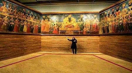 به نمایش در آمدن تابلو تاریخی صف سلام فتحعلی شاه