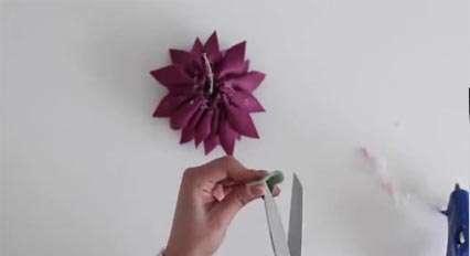 آموزش ساخت گل نمدی (2)
