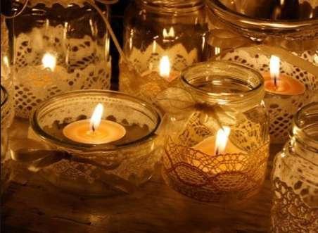 ساختن جا شمعی های زیبا با ظروف شیشهای