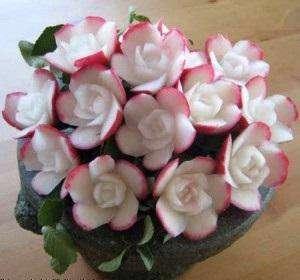 گل هایی با خیار و ترب بسازید