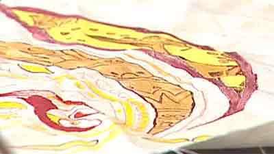 نقاشی روی پارچه - به زبان آذری