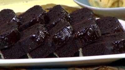 کیک شکلاتی با سس مخصوص