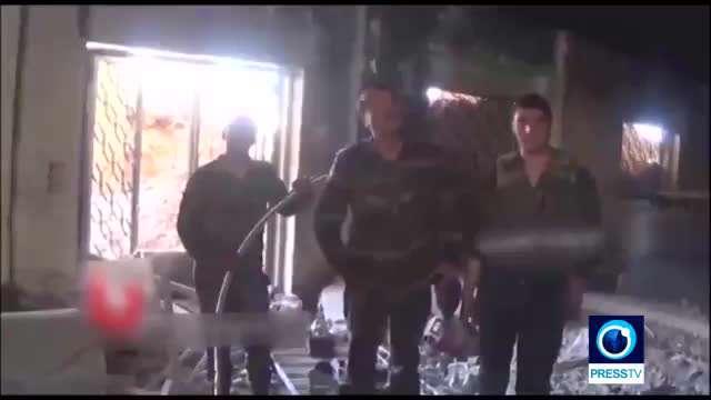 کشف و تخریب تونل تروریستها در دمشق