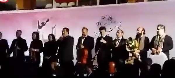 سقوط «سالار عقیلی» در حین اجرا در آمل!