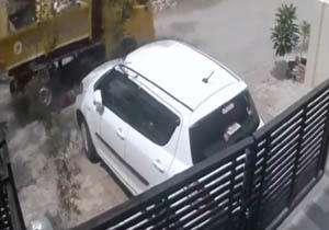 دنده عقب رفتن ناشیانه راننده کامیون یک زن را له کرد