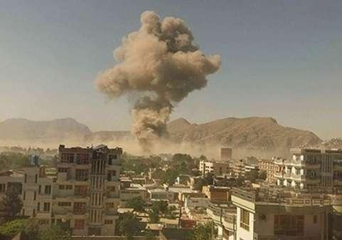 لحظه انفجار وحشتناک در کابل