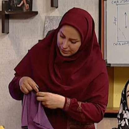 خانم جوادی | ادامه آموزش مقنعه شال
