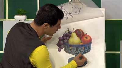 نقاشی میوه ها