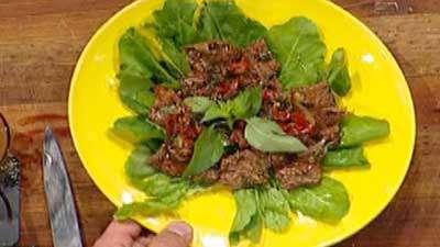 سالاد سبزیجات با گوشت