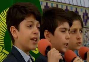 اشکهای سوزناک نوجوانی برای مدافعان حرم