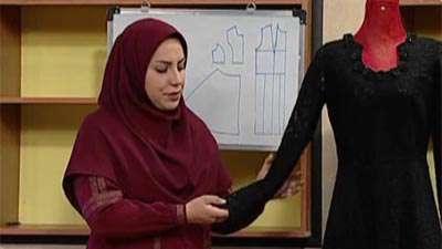 خانم جوادی | پیراهن دنباله دار مجلسی (1)