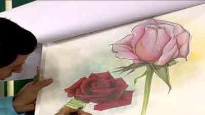 تابلوی گل نقاشی