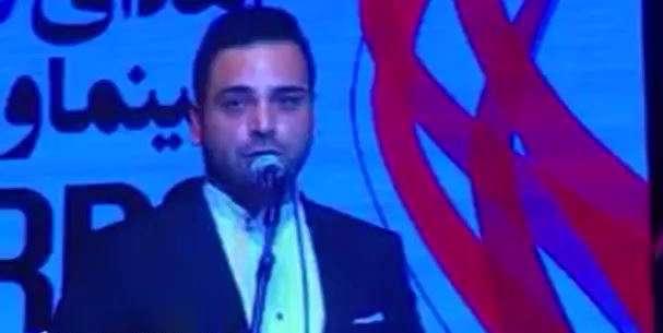 احسان علیخانی جایزه خود را به شهید حججی تقدیم کرد