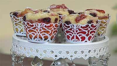 کاپ کیک های میوه ای