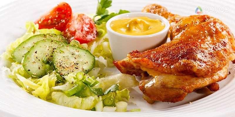 طرز تهیه مرغ سوخاری با نان قیفی