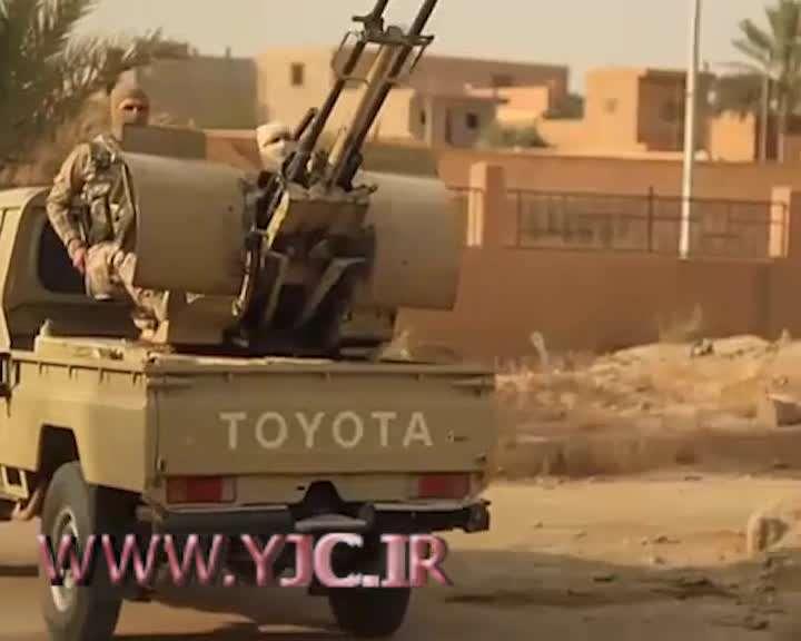اعدام هولناک یک شهروند سوری با ضد هوایی توسط داعش