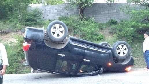 چپ شدن خودرو در تصادف خیلی ساده