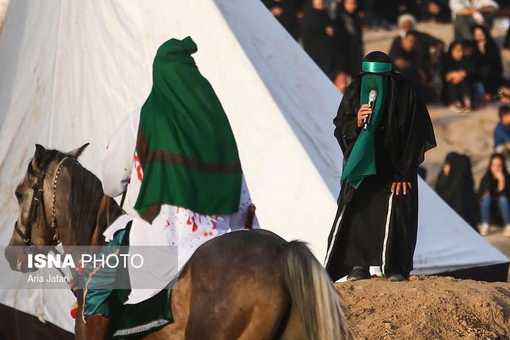 تعزیه واقعه عاشورا؛ نوش آباد