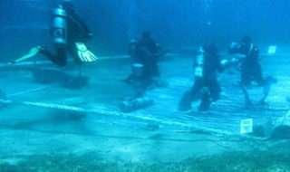 نماز خواندن جوان مصری زیر آب!