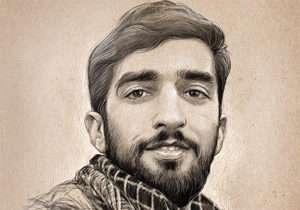 شهید محسن حججی در پیاده روی اربعین