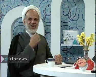 لحظه وقوع زلزله در برنامه زنده سیمای کرمان