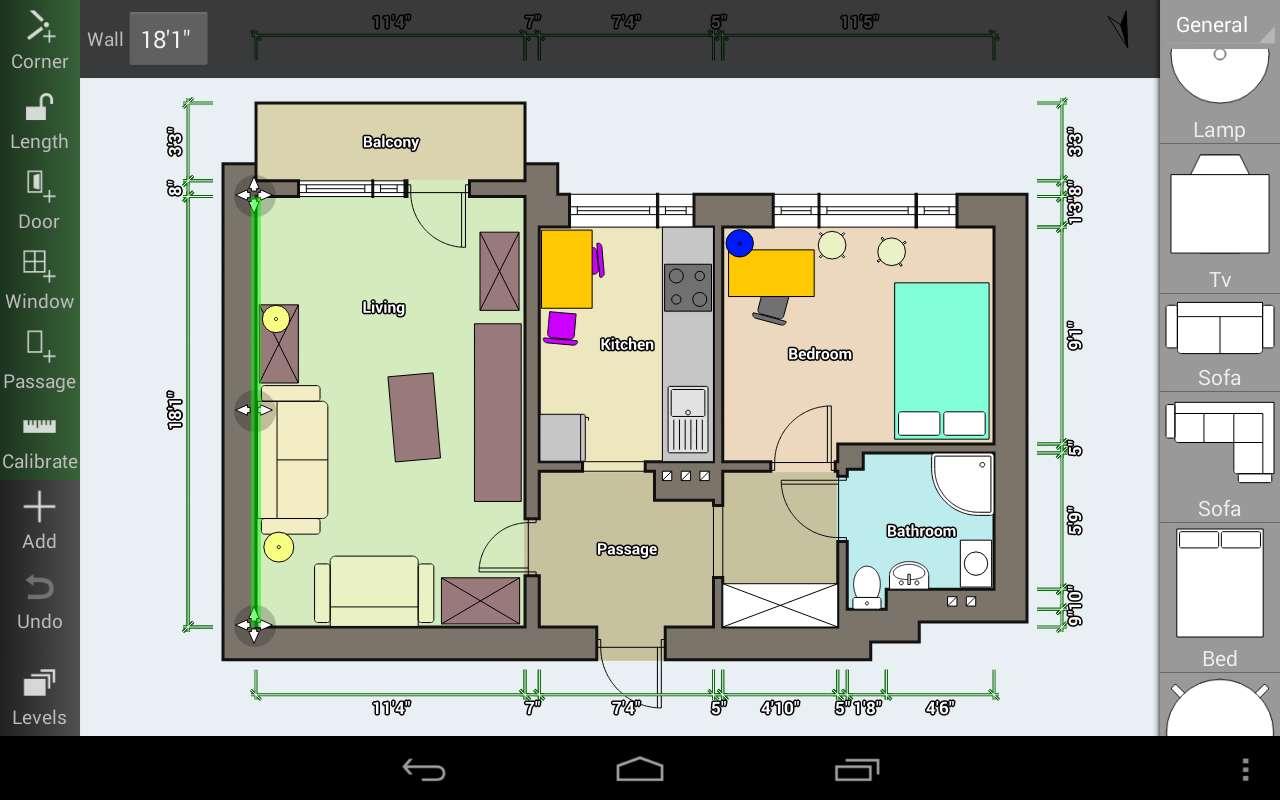 دانلود برنامه نقشه کشی ساختمان Floor Plan Creator Full 3.2 برای اندروید